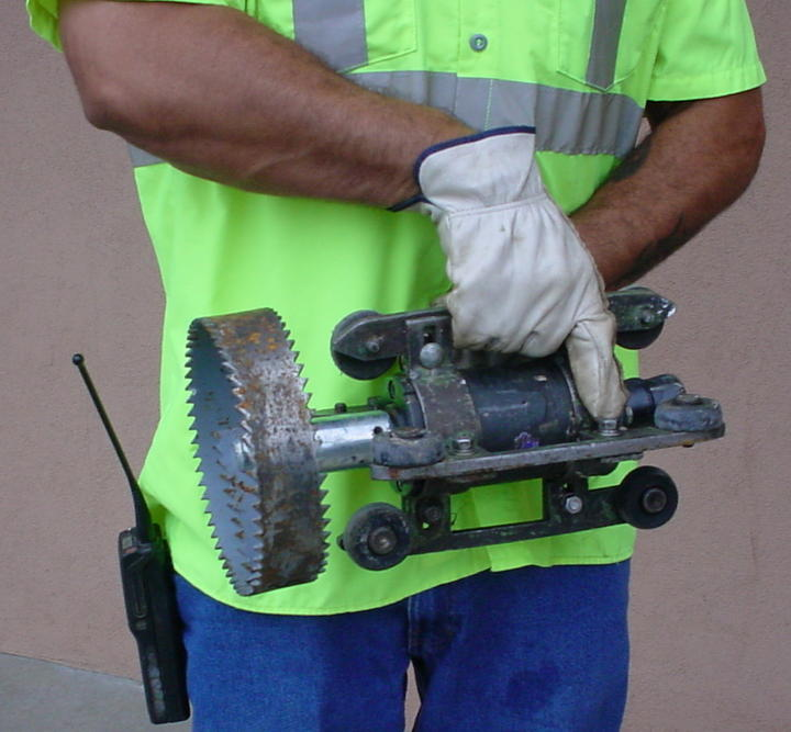 Orbital Hydro Saw Nozzle used clean pipes - sewage Collection