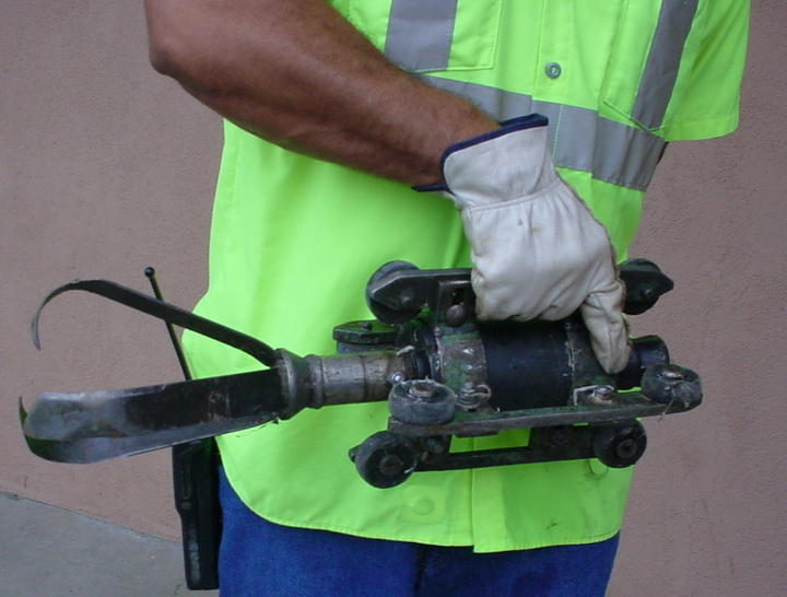 Spring Hydro Saw Nozzle used clean pipes - sewage Collection