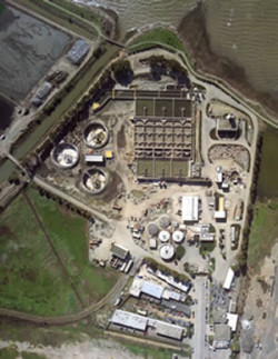 waste water treatment plant - aerial 2