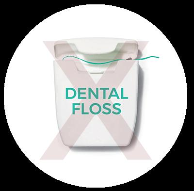 dont flush dental floss